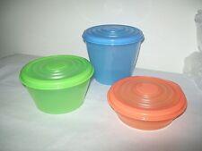 Tupperware Mini Stuffable Stuffables Containers Blue Green Orange Rare New