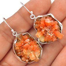 13g Aragonite Star Crystal 925 Sterling Silver Earrings Jewelry SE123866