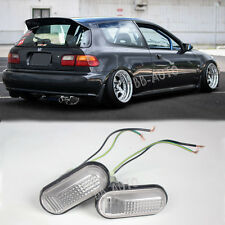 92-95 Civic JDM CLEAR Side Marker Lights Lamp Replacement Fender Si EG6
