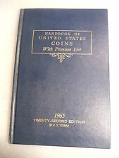 1965 A Guide Book of United States Coins blue h/c book 22nd Edition R.S. Yeoman