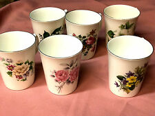 Set of 6 Chanticlere Fine Bone China Floral Bouquet Coffee/Tea Mugs England,Vntg