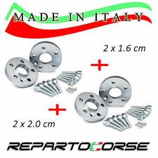 KIT 4 DISTANZIALI 16 + 20 mm REPARTOCORSE - OPEL CORSA D (5 fori) -MADE IN ITALY