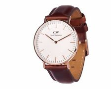 *NEW* Daniel Wellington 0507DW 'St Mawes' Classic Mens Women Watch Brown Leather