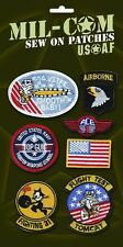 USAF Repro Air Force Top Gun Flying Suit Kids Fancy Dress Badges Cloth Patches