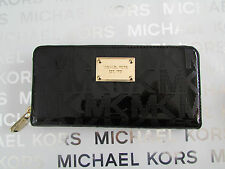 NWT Michael Mirr Metallic Jet Set Item Zip Continental Wallet