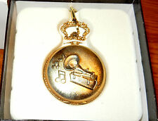 CROTON PHONOGRAPH THOMAS EDISON 1877 POCKET WATCH. WITH CHAIN AND BELT CLIP