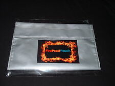 """FIRE PROOF POUCH"" Fire Resistant Document Pouch Bag,Money Safe, Big 10""X 8""X 1"""