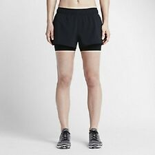 Nike Full Flex 2-in-1 2.0 Women's Training Shorts S Black Gym Casual Running New
