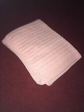 NEW Hand-Made Baby Girls Plain Pink Crochet Blanket James C Brett Yarn