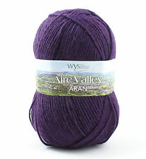 West Yorkshire Spinners - Aire Valley Aran - Wool Blend Knitting Yarn - Plum