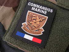 Patch Velcro - COMMANDOS MARINE - FRANCE FORCES SPECIALES - COS noir