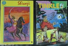 OLD Comic child book Amar Chitra katha no 564 Shivaji and Tinkle No.543 -2pcs