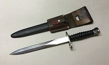 Swiss Military STG57 Dagger Bayonet Sword W/Scabbard And Original Frog