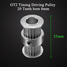 GT2 Timing Driving Pulley 20Teeth Bore 8MM Double Side Gear Alumium For GT2 Belt