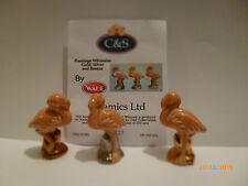 - Wade Whimsies Flamingo or argent et bronze bases le 250
