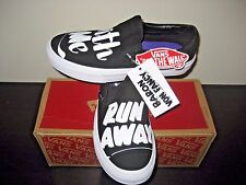 Vans Classic Slip On Womens Baron Von Fancy Black White Canvas Shoes size 8.5