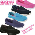 SKECHERS WOMENS GO WALK 3 COMFORTABLE LIGHTWEIGHT CASUAL SHOES/SNEAKERS/GOGA MAT