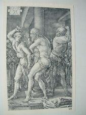 Albrecht DURER VINTAGE incisione su rame FLAGELLAZIONE PASSIONE-N. 6