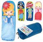 Kids Sleeping Bag Children Princess Pirate Design Sack Travel Camping Sleepover