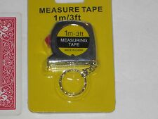Locking Tape Measure Key Chain - 3 Foot, Tiny Small, Kids, Carpenters, Plumbers
