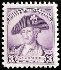 1932 3c George Washington, Deep Violet, Peale Scott 708 Mint F/VF NH