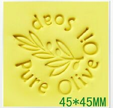 "Z046 Pure Olive Handmade Resin Soap Stamp Seal Soap Mold Mould 1.77""x1.77"" YZ"