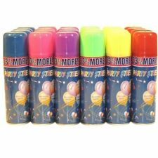 12 Pcs of Fun Silly Party Crazy String Streamer Spray Cans - Weddings or Parties