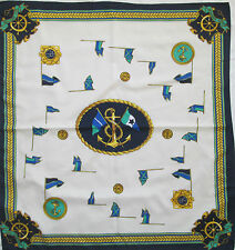 -Superbe Foulard  OLD NAUTICAL   TBEG  vintage scarf