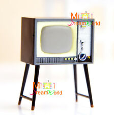 Dolls House 1:24 Scale Miniature Furniture Vintage style TV Television Magnetic