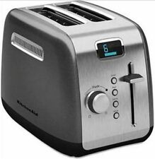 KITCHENAID R-KMT222QG 2-SLICE DGITAL STAINLESS STEEL TOASTER W LCD DISPLAY FEATR