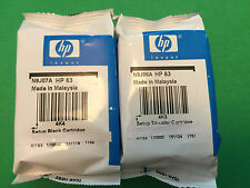 GENUINE HP 63 Black Color-Original Ink Cartridge Combo for HP 3632 4650 printer