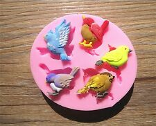 Birds Silicone Fondant Cake Mould Sugar Craft Cake Baking Sparrow Bird