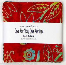 "Moda FABRIC Charm Pack ~ ONE FOR YOU ONE FOR  ME BATIKS ~  Pat Sloan 40 -  5"" sq"