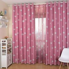 Newly Blackout Curtain Cloud Printed Baby Boy Girls Thick Heavy Eyelet Drape 1pc