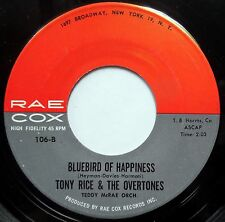 TONY RICE & OVERTONES 45 Bluebird Of Happiness / Little School Girl DOO WOP e021