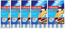 5 x VILEDA ACTIVE MAX MOP HEAD FLAT PAD REFILL REFILLS - 5 x 143052 ACTIVEMAX