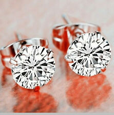 18K White Gold GP Swarovski Crystal Beautiful Cute Princess Studs Earrings FB304