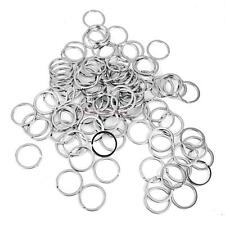 lot 100pcs Stainless Steel Keying Key Chain 32mm Loop Split Key Rings Clasps
