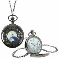 The Nightmare Before Christmas Jack Sally Snow Hill Pocket Watch Necklace Disney