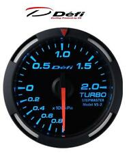 Defi Racer 52mm Car Boost 2 Bar Gauge - Blue - JDM Style Stepper Motor