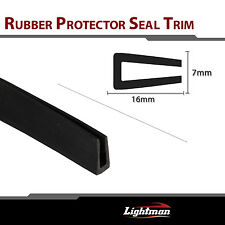 "120"" Black U Channel Car Window Door Rubber Edge Trim Seal Molding Strip Guard"