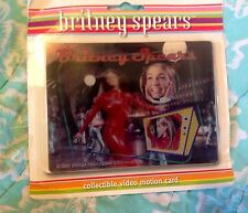 New BRITNEY SPEARS Video Motion * Oops! ... I Did It Again * Card *RARE*