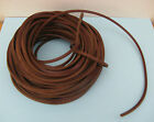 3 METERS OF DARK BROWN SQUARE LEATHER LACING FOR WALKING STICK LANYARDS /CRAFTS