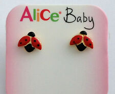 """ORECCHINI """" COCCINELLE """" IN ORO 18KT - 18KT SOLID GOLD LADYBIRDS  EARRINGS"""