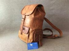 Handmade Leather Drawstring Backpack BD LARGE Rucksack Festival Bag Billy Goat