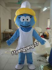 Carnival Mascots Smurfette smurf For Women Costume Adult Sz Cartoon Fancy Dress