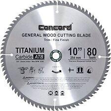 Concord Blades 10-Inch 80 Teeth Hard & Soft Wood Saw Blade...NEW