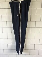 MENS TRASHED VINTAGE RETRO ADIDAS NAVY TRACKSUIT BOTTOMS JOGGERS SWEATPANTS