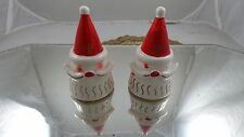 Vtg Christmas Santa Cone Shape Salt & Pepper Shakers Capri Creation Philadelphia