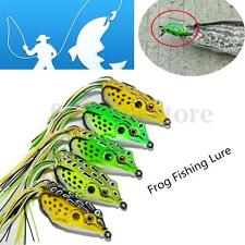 3D Fishing Lure Large Hollow Silicone Frog Jumping Frogs Pike Tackle Crankbait